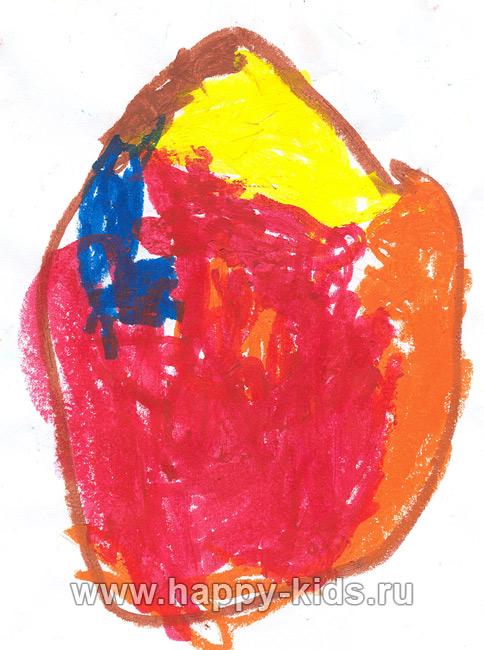 Детский рисунок - яйцо